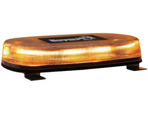 Buyers Products 15 0 Oval Amber Led Mini Light Bar W Permanent Mount 8891071