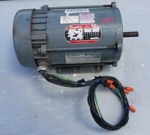 Dayton 3n370b Ac Induction Motor 1 Hp 3 Phase 1725 Rpm