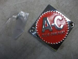 Allis Chalmers D10 D12 D14 D15 D17 D19 Orange Steering Cap front Nose Emblem