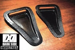 Carbon Fiber Hood Vents Intake Ducts Universal Pair Made From Dry Carbon Fiber