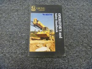 Grove Tts870 Crane Factory Owner Operator Safety Handbook Manual Serial 83510