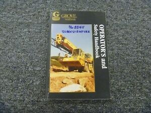 Grove Ats870 Crane Owner Operator Safety User Guide Handbook Manual Sn 83411