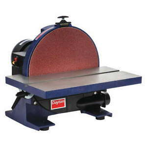 DAYTON Disc Sander12 In34HP120V7A 2RYN9