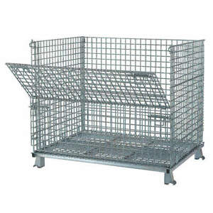 Nashvill Steel Wire Mesh Collapsible Container 48 In W silver C404836s4 Silver