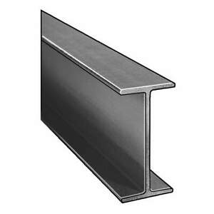 Dynaform I beam isofr gray 4x2 In 1 4 In Th 10 Ft 871160 Dark Gray