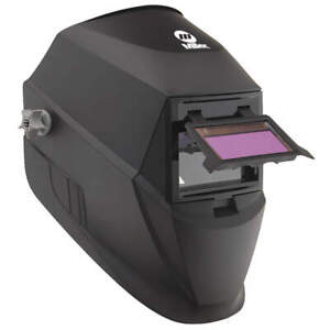 Miller Electric Welding Helmet auto Darkening 1 3 8in h 263038 Black