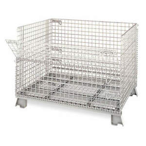 Nashvill Steel Wire Mesh Collapsible Container 32 In L silver C324028s4 Silver