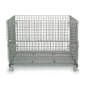 Nashville Wire Steel Wire Mesh Collapsible Container 20 In L silver Jr1 Silver