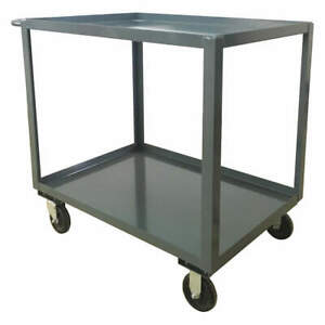 Grainger Approved Utility Cart steel 42 Lx25 W 1400 Lb Sb236p500gp Gray
