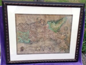Ortelius Hand Colored Regni Neapolitani Map Of Southern Italy Kingdom Of Naples