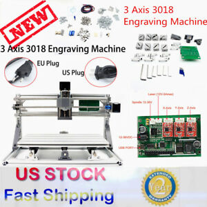 3 Axis 3018 Grbl Control Cnc Router Milling Engraving Machine Plastic Wood Pvc