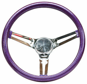 Mooneyes Purple Metalflake Steering Wheel 13 5 With Slots In Spokes Rat Fink