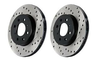 Stoptech Mk4 Mkiv Vw 20ae 337 Gli 312mm Drilled Front Brake Rotors Discs Pair