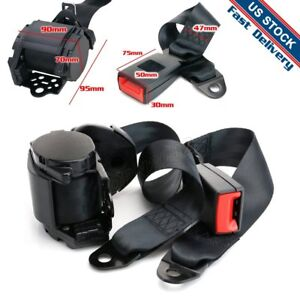 Fit For Chevy 1pc 3 Point Shoulder Adjustable Retractor Harness Safety Seat Belt