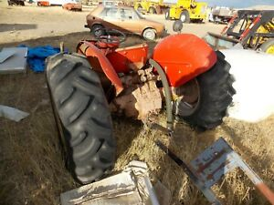 Massey Harris Tractor Backhalf With Tires