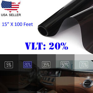 Uncut Window Tint Roll Film 20 Vlt 15 100 Ft Car House Office Glass Commercial