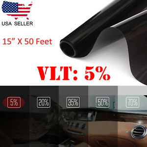 Uncut Window Tint Roll Film 5 Vlt 15 50 Ft Car House Office Glass Commercial