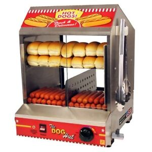 Commercial Quality Hot Dog Hut Steamer Merchandiser Professional Concessionaires