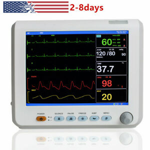Portable 8 Inch Icu Patient Monitor Vital Signs Monitor 6 Parameters fda Usps