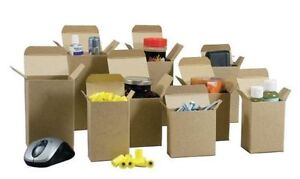 3 X 2 X 4 Cartons Reverse Tuck Boxes 500 lot Kraft Containers