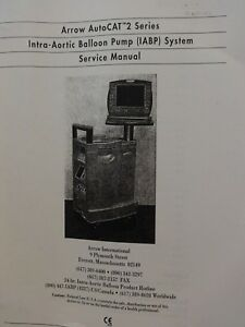 Arrow Auto Cat 2 Series Intra aortic Balloon Pump iabp System Service Manual
