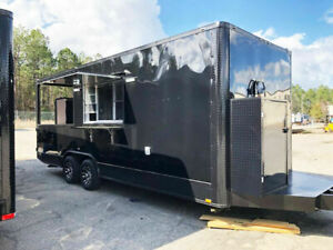 Food Truck Concession Catering Bbq Trailer W Smoker Turn Key With Equipment