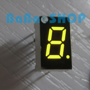 5 100pcs 7 6 Mm 0 3 0 3 Inch 7 Segment Display Yellow Led Digit Common Cathode