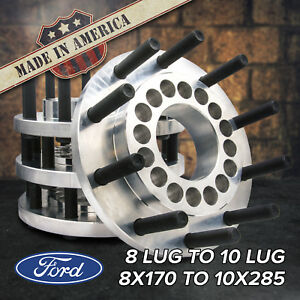 Usa 8 To 10 Lug 8x170 To 22 5 24 5 Semi Wheel Adapters Ford F250 F350 99 18