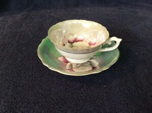 Shafford Hand Painted Porcelain Cup And Saucer Japan