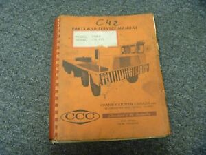 Crane Carrier Company Ccc 2584 Crane Truck Service Repair Parts Catalog Manual