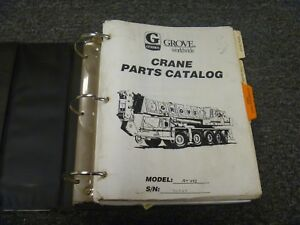 Grove Model At422 Hydraulic All Terrain Crane Factory Parts Catalog Manual