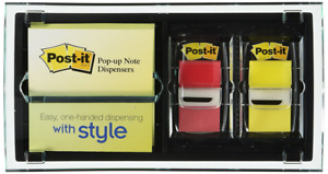Post it Pop up Note Flag Dispenser For 3 X 3 inch Notes Various Colors