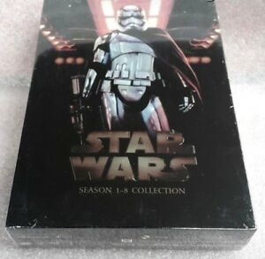 *Star Wars: The Complete Saga 1-8 Complete DVD Set 14 discs FREE  Shipping