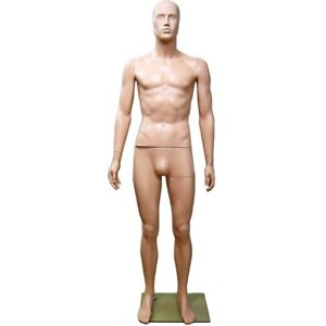 Mn 245 Plastic Abstract Male Men s Full Size Mannequin W Removable Head e2