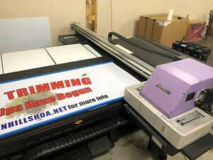 Mimaki Jfx500 2131 Wide Format Flatbed Led Uv Printer Check Out Video Cmyk W Cl