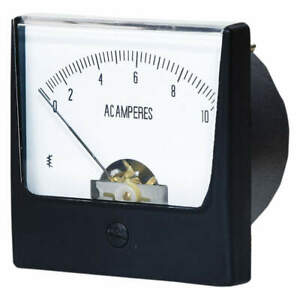 Grainger Approved Analog Panel Meter ac Current 0 10 Ac A 12g373
