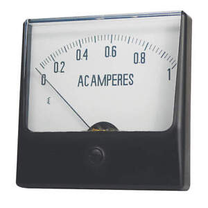 Grainger Approved Analog Panel Meter dc Current 0 10 Dc A 12g418