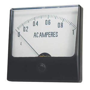Grainger Approved Analog Panel Meter dc Current 0 50 Dc A 12g424