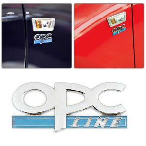 3d Metal Opc Line Emblem Car Side Fender Tail Badge Styling Sticker Fit For Opel