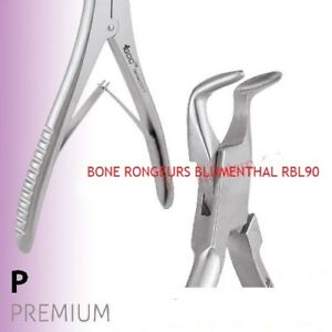 Dental Instrument 2x Oral Surgery Bone Rongeurs Blumenthal 90 Rbl90 Cleaning
