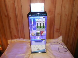 Blu E cig Lighted Acrylic Locking Display Case Blue Light