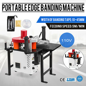 Woodworking Portable Edge Banding Machine 120 180 Celsius Edge Banding Stability