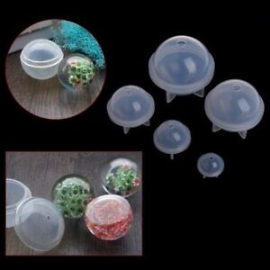 20-60mm Silicone Mold Epoxy Resin Orb Globe Ball Sphere Beads Jewelry Making DIY
