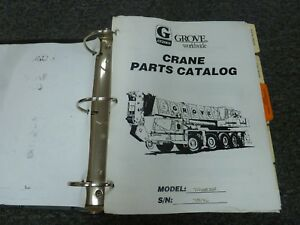 Grove Tms875b Hydraulic Telescopic Boom Truck Mounted Crane Parts Catalog Manual