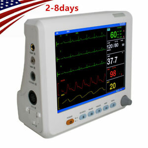 Portable 8 Patient Monitor 6 parameter Portable Ccu Vital Sign Cardiac gift