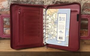 Franklin Covey Binder Day One 7 Ring Dark Red Planner Retractable Handle Zipper