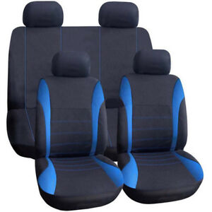 Universal Car Seat Cover 9 Set Full Seat Covers For Crossovers Sedans Blue Deco
