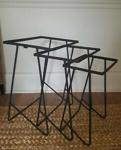 Mid Century Modern Iron Nesting Stacking Tables Set Of 3