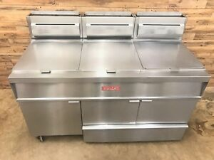 2005 Vulcan 3gr65f 3 Bay Fryer With Built in Filter System Ng