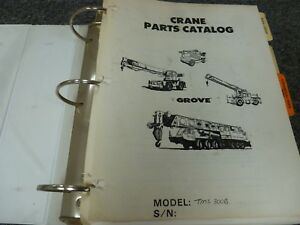 Grove Tms300b Mobile Hydraulic Truck Mounted Boom Crane Parts Catalog Manual